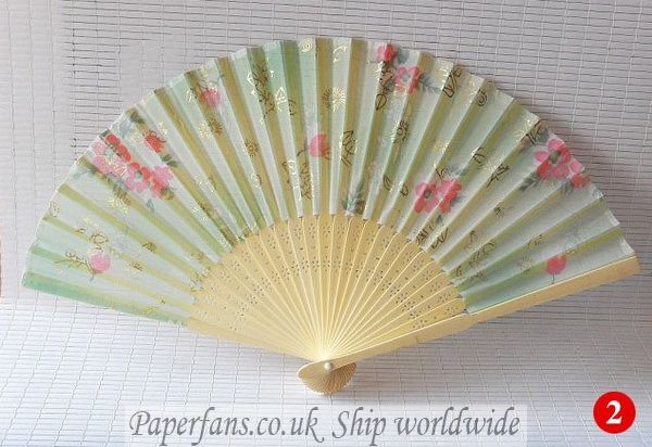 Hand held paper fans for weddings