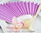 paper purple bamboo fans