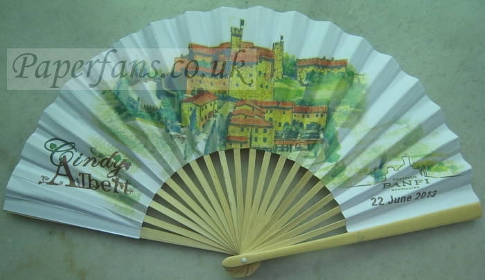personalized printing paper wedding fan