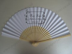 personalized fans for wedding w